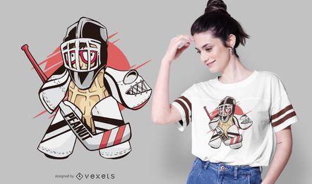 Diseño de camiseta de portero de hockey de maní