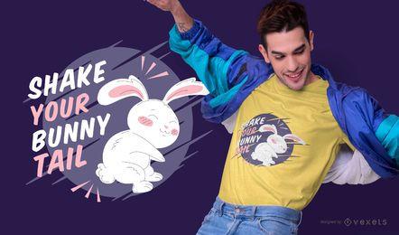 Design de t-shirt de citação de coelho de Páscoa