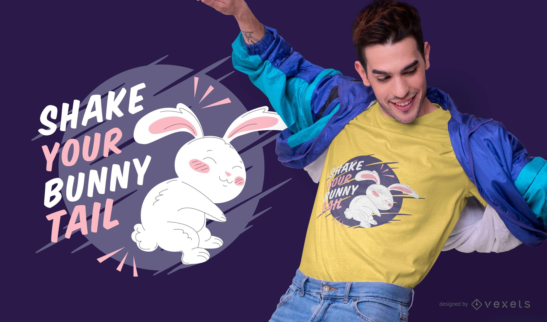 Diseño de camiseta de cita de conejo de Pascua