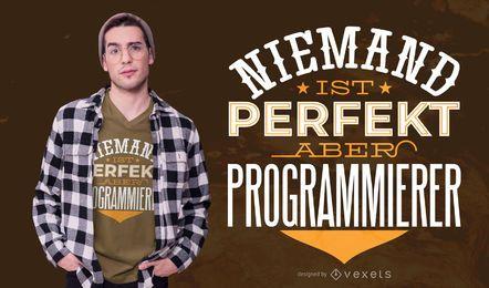 Programador Diseño de camiseta de cita alemana