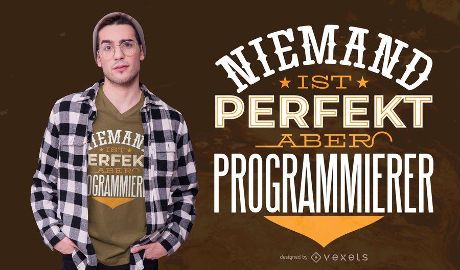 Programmer German Quote T-shirt Design
