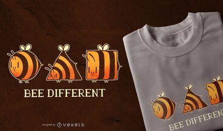 Diseño de camiseta diferente de abeja