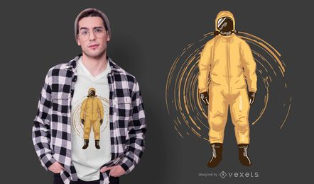Hazmat suit t-shirt design