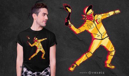 Diseño de camiseta Molotov Thrower