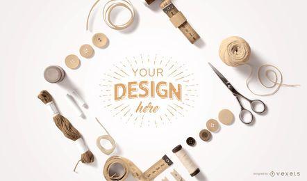 Diseño de maquetas de elementos de artesanía