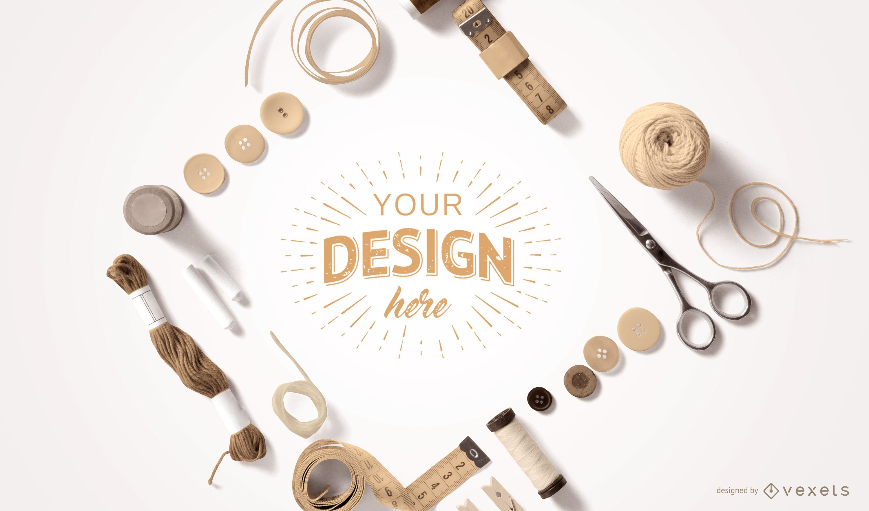 Crafting Elements Mockup Design