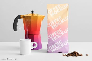 Gradient Coffee Packaging Mockup