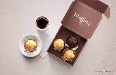 Muffins Box Mockup Design