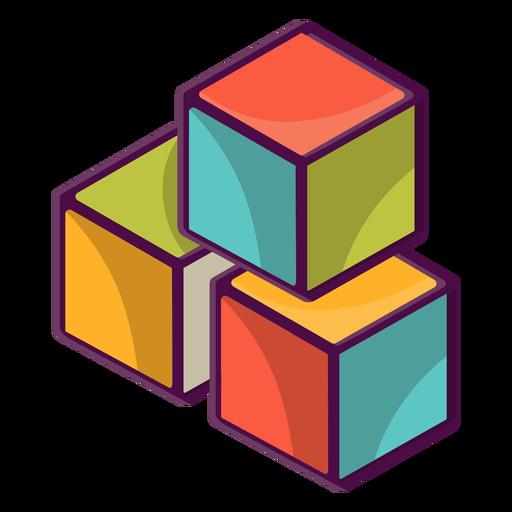 3d building blocks Transparent PNG