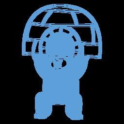 Angry yeti lifting igloo