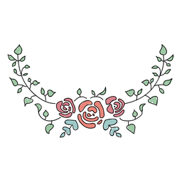 Ornamentos florais impressionantes