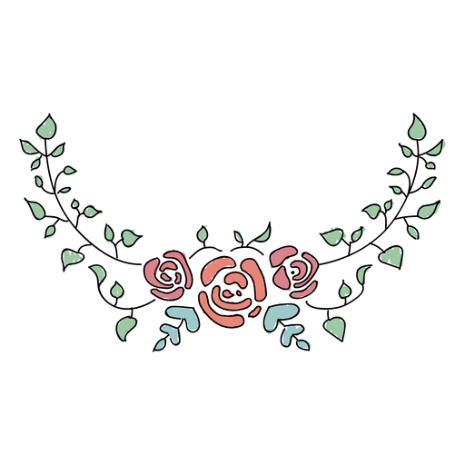 Awesome floral ornaments Transparent PNG