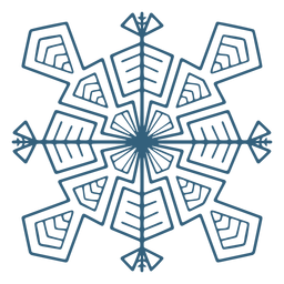 Impresionante símbolo de copo de nieve