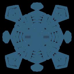 Símbolo de copo de nieve impresionante