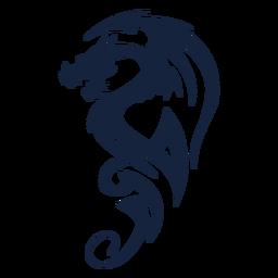 Dragón tribal impresionante