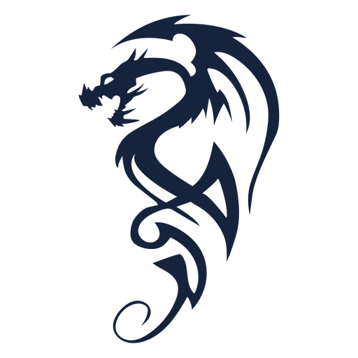 Awesome tribal dragon Transparent PNG