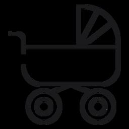 Ícone de carrinho de bebê