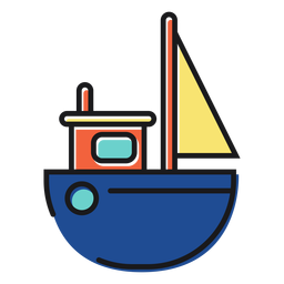 Brinquedo ícone de barco