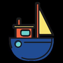 Juguete de icono de barco