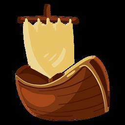 Ilustração de brinquedo de barco