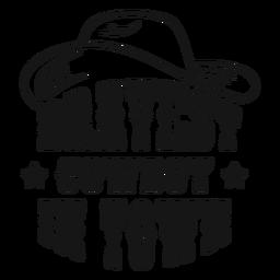 O melhor emblema de cowboy