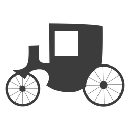 Carriage simple vector