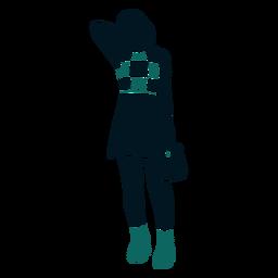 Menina retrô quadriculada