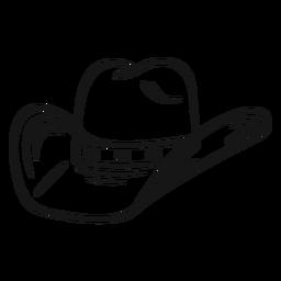 Trazo de sombrero de vaquero clásico