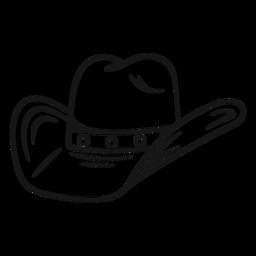 Golpe clásico sombrero de vaquero Transparent PNG