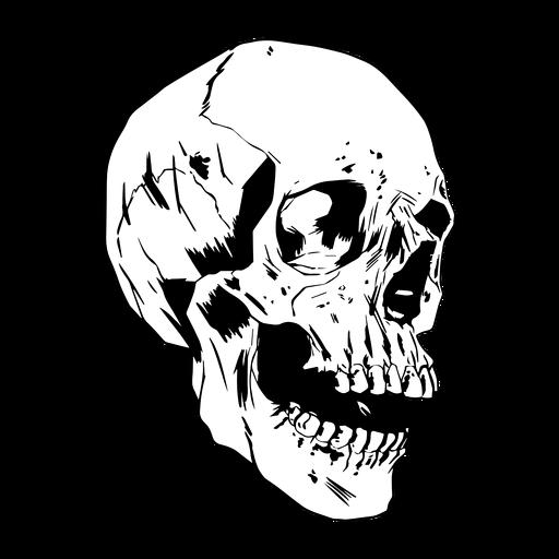 Cool gezeichneter Schädel