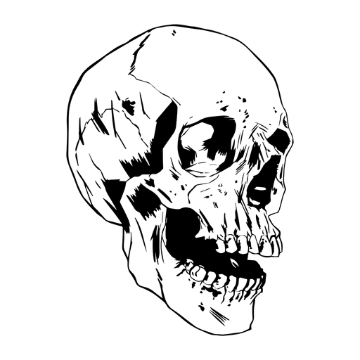 Crânio desenhado legal