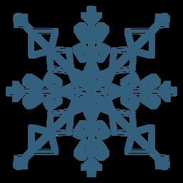 Símbolo de copo de nieve genial