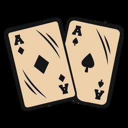 Cartões do ás do vaqueiro