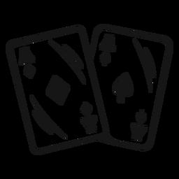 Curso de cartas de ases de vaqueiro