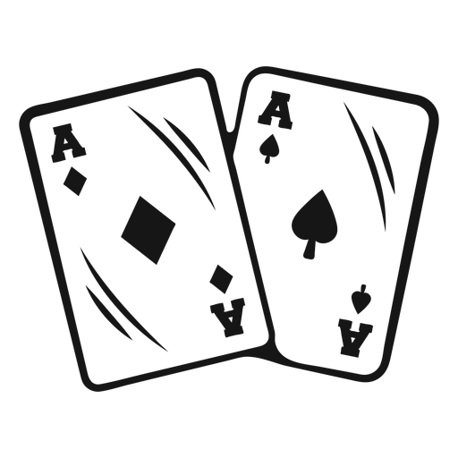 Cowboy aces cards stroke