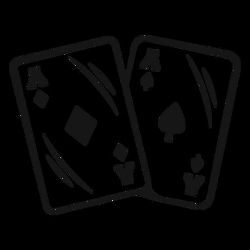 Golpe de cartas de ases de vaquero