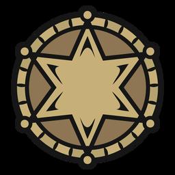 Cowboy badge vintage