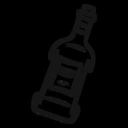 Botella de vaquero vintage stroke