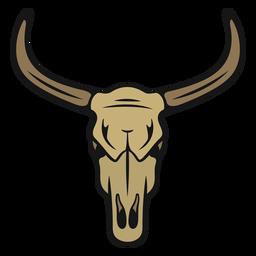 Cabeça de touro de cowboy