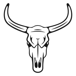 Cowboy bull head stroke