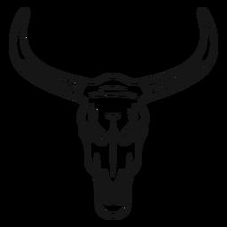 Curso de cabeça de touro de cowboy