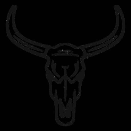 Golpe de cabeza de toro vaquero