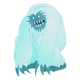 Creepy eyes yeti