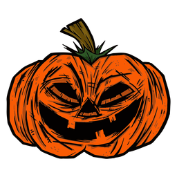 Creepy pumpkin illustration