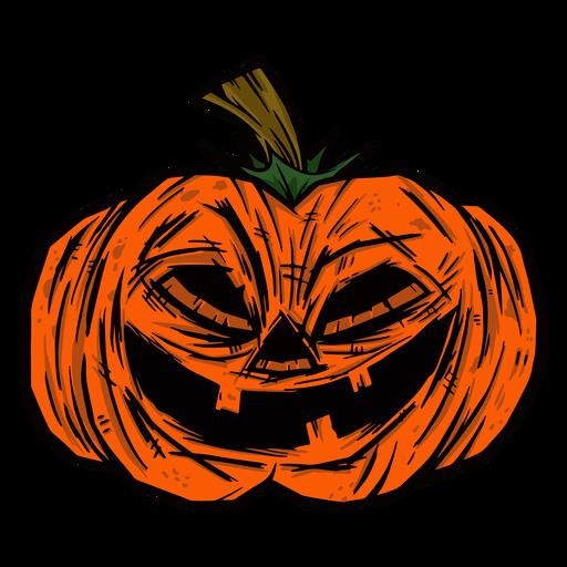 Creepy pumpkin illustration Transparent PNG