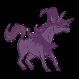 Creepy unicorn witch