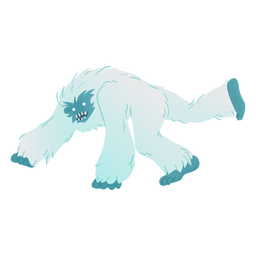 Crouching yeti side view