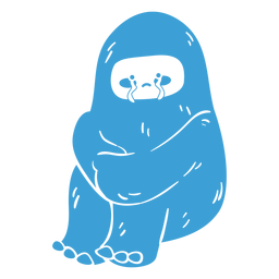 Crying yeti cute
