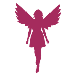 Silhueta de anjo bonito
