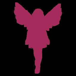 Silueta linda del ángel